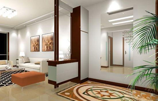 玄关可以通过二次装修做出来,设计合理,装修精良的玄关不仅是展示